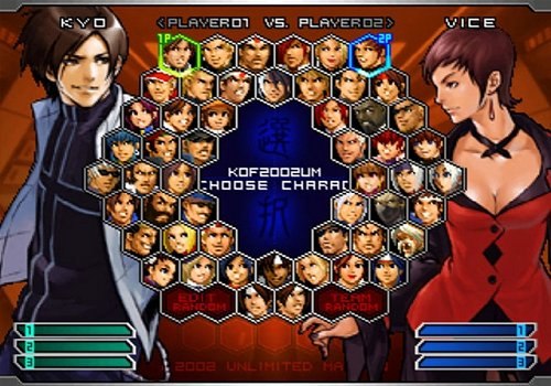 the king of fighters 2002 unlimited match ps2 iso
